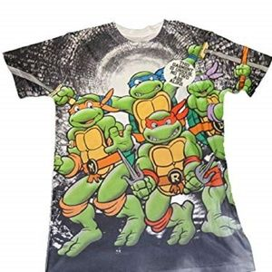 TMNT TURTLES MEN SUBLIMATED GRAPHIC TEE NEW